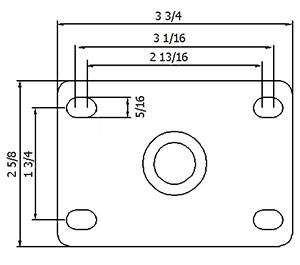 Plate-size-for-Medium-duty-casters